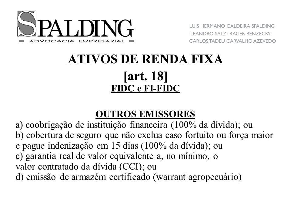 ATIVOS DE RENDA FIXA [art. 18]